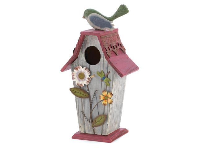 Outdoor Patio Porch Yard Garden Cottage Birdhouse Decorative Accent Christmas Gift