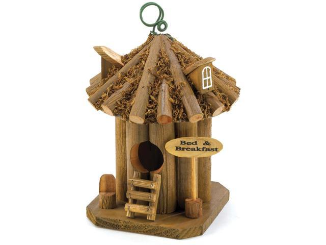 Outdoor Patio Porch Yard Garden Bed and Breakfast Birdhouse Decorative Accent Christmas Gift