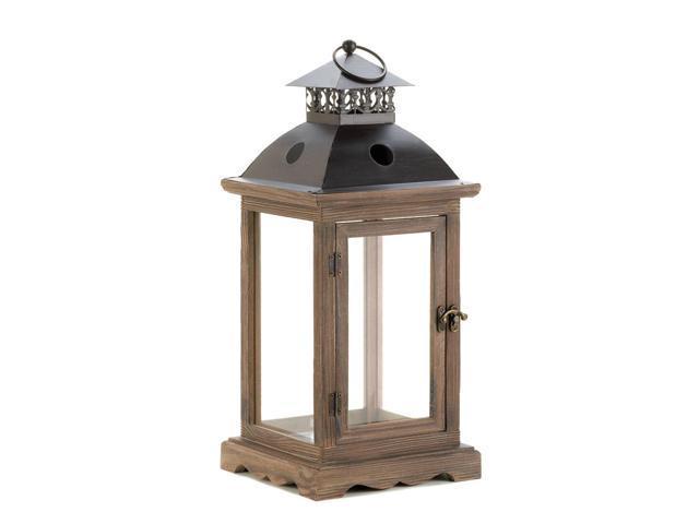 Koehler Outdoor Lawn Patio Monticello Wood Lantern Large