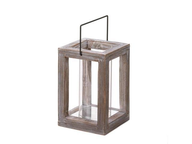 Home Indoor Outdoor Lawn Patio Yard Porch Decorative Christmas Holiday Occasion Season Wedding Dinner Candle Light Rustic Garden Wooden Lantern Holder Vase Stand