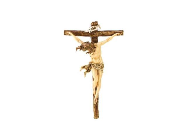 Home Indoor Christmas Seasonal Jesus Classic Renaissance Crucifix Statue Wall Decor