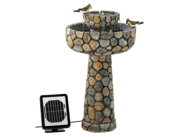 Home Cottage Garden Yard Indoor Outdoor Decor patio Wishing Well Solar Power Water Fountain