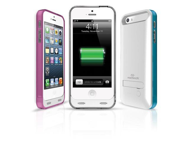 Naztech Apple Certified 2400mAh Power Case for Apple iPhone 5/5s with Kickstand - White