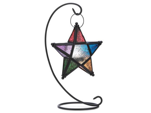 Koehler Home Decor Decorative Wedding Seasonal Table Display Evening Star Standing Lantern Candle Holder Stand