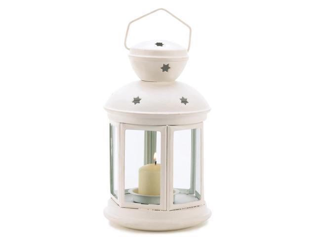 Koehler Home Decor Decorative Christmas Seasonal Travel Gift White Colonial Hanging Candle Centerpiece Lamp Lantern