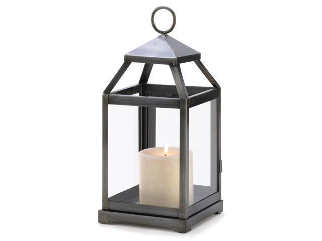 Koehler Home Decor Decorative Christmas Seasonal Rustic Silver Contemporary Centerpiece Candle Lantern