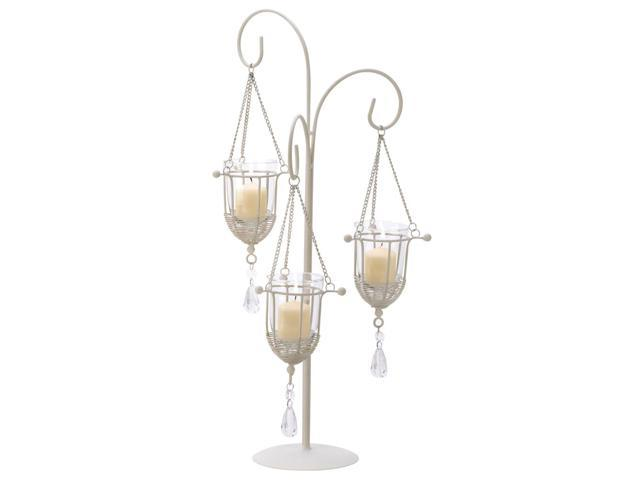 Koehler Home Decor Decorative Christmas Wedding Seasonal Gift Stage Table Display Crystal Drop Votive Candle Holder Stand Candelabra