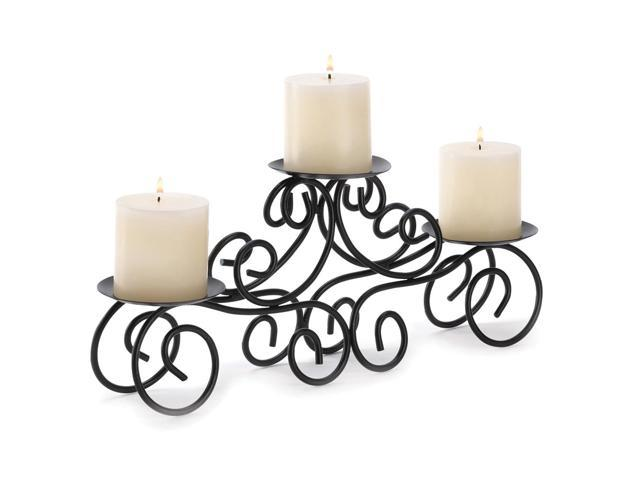 Koehler Home Decor Decorative Wedding Seasonal Table Display Wrought Iron Tuscan Candle Centerpiece Candle Holder
