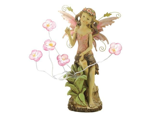Koehler Christmas Seasonal Holiday Decorative Home Peony Fairy Solar Fine Art Sculpture Statue
