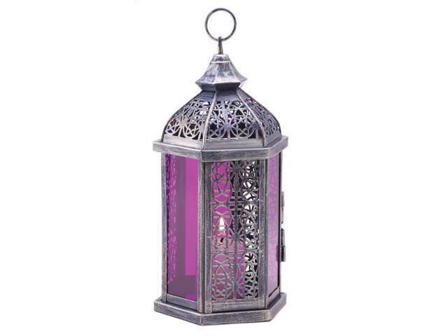 Koehler Home Decor Decorative Christmas Seasonal Travel Gift Enchanted Amethyst Candle Centerpiece Lamp Lantern