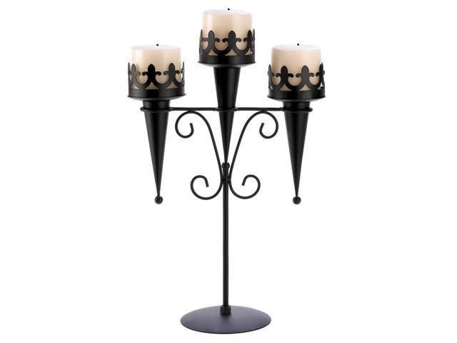 Koehler Home Decor Decorative Wedding Seasonal Table Display Medieval Triple Lantern Candle Holder Stand