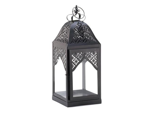 Home Indoor Outdoor Decorative Holiday Gift Décor Hanging And TableTop Candle Accessory Metal Large Steeple Candle Lantern