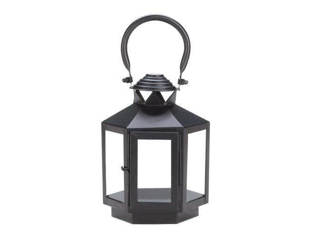 Home Indoor Outdoor Decorative Holiday Gift Décor Hanging And TableTop Candle Accessory Metal Hexagon Carriage Lantern