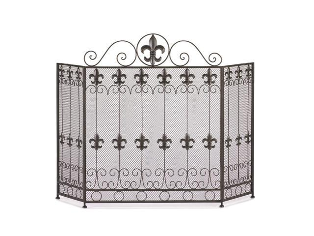 Home Indoor Decorative Holiday Decor French Revival Fire Place Screen