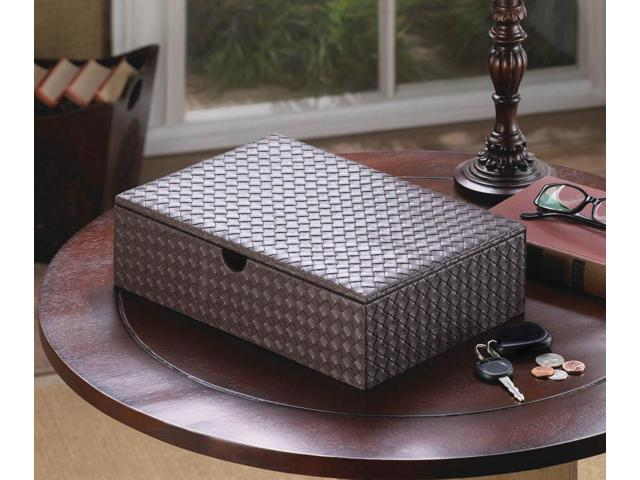 Home Indoor Decorative Holiday Decor Faux Leather Keepsake Box