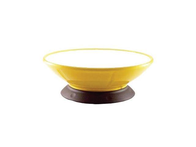 Modapet Lemon Zest Pedestal Durable Plastic Non Skid Pet Dog Water Food Bowl Dish 2 Cups