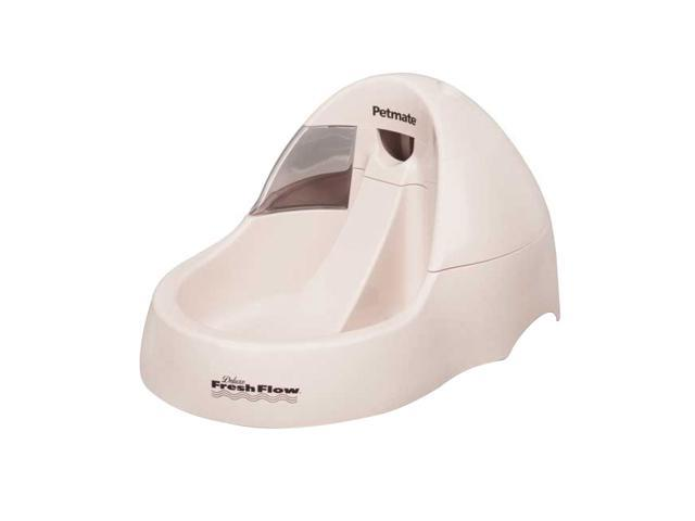 Petmate Deluxe Fresh Flow Pet Cat Water Filter Dispenser 108oz Bleached Linen