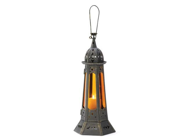 Home Indoor Outdoor Yard Garden Decorative Hanging Tabletop Moroccan Tower Winter Fire Candle Holder Lantern Wedding Centrepiece