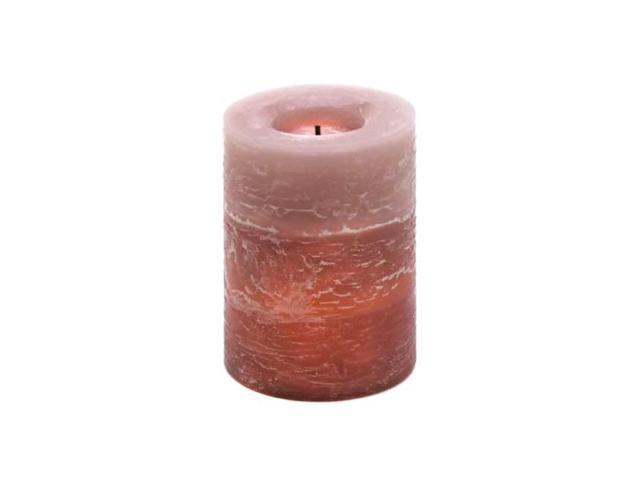 Koehler Decorative Home Indoor Outdoor Christmas Rustic Wood Spice Scented LED Flameless Candle With ON OFF Switch