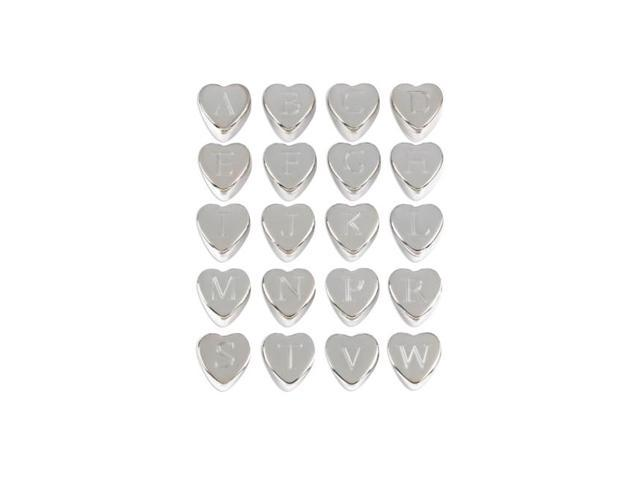 Koehler Monogram Heart Keepsake Trinket Jewelry Treasure Case Boxes Set With Velvet Lined Secret Compartment 6 Dz