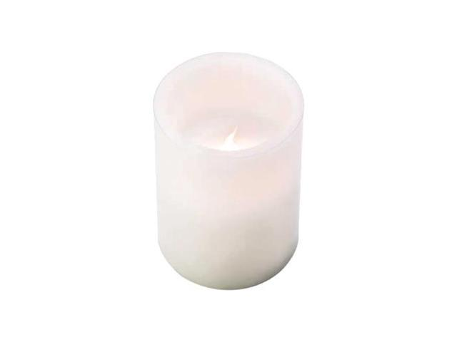 Koehler Decorative Home Indoor Outdoor Christmas Classic White Flameless Paraffin Wax Candle Gift With ON OFF Switch