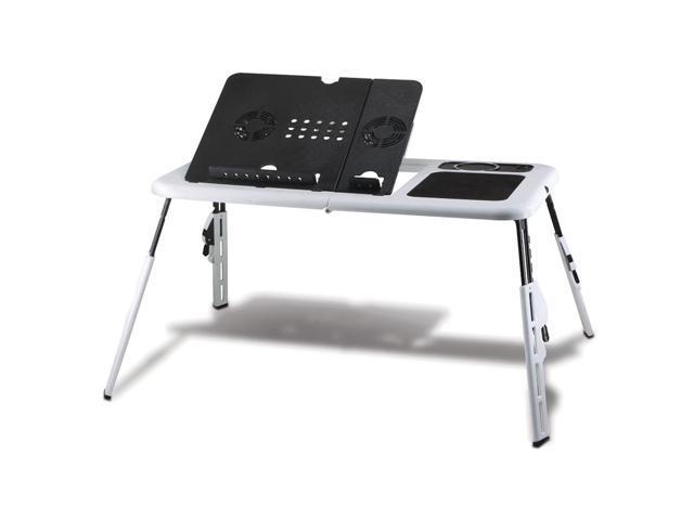 Koehler Home Office Portable Lightweight Foldable Executive Laptop Holder Workstation Desk Stand With Cooling Fans