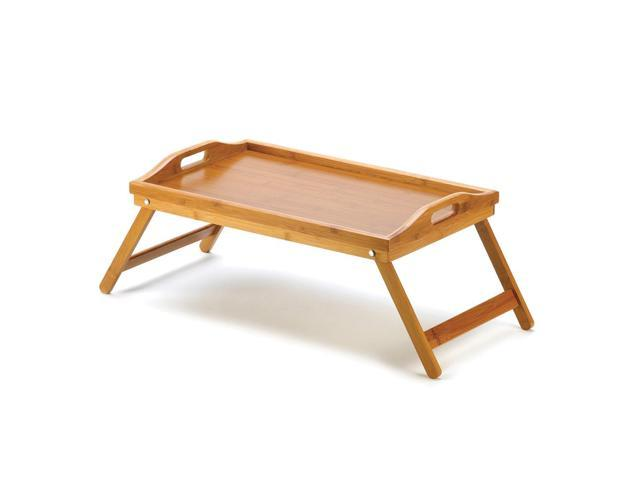 Koehler Indoor Home Kitchen Decor Bamboo Portable Folding Food Serving Tray
