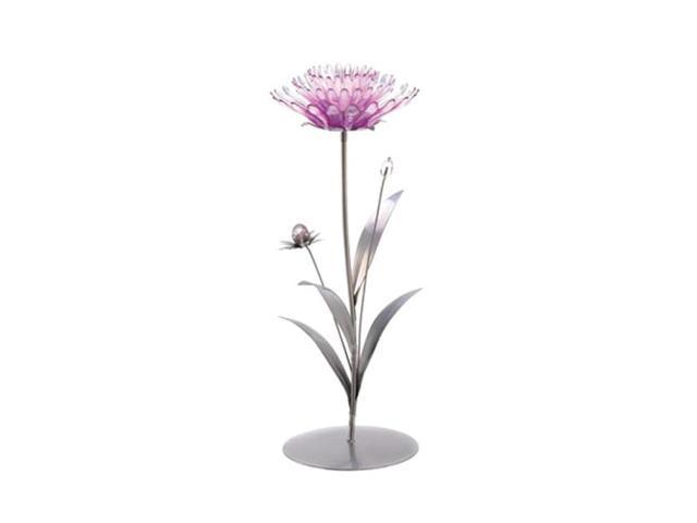 Koehler Home Decor Gift Accent Pink Lotus Metal Glass Tealight Candle Holder