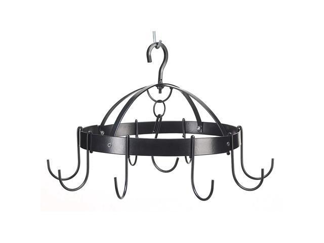 Koehler Home Kitchen Decor Mini Round Metal Pot Pan Holder Hanger Organizer