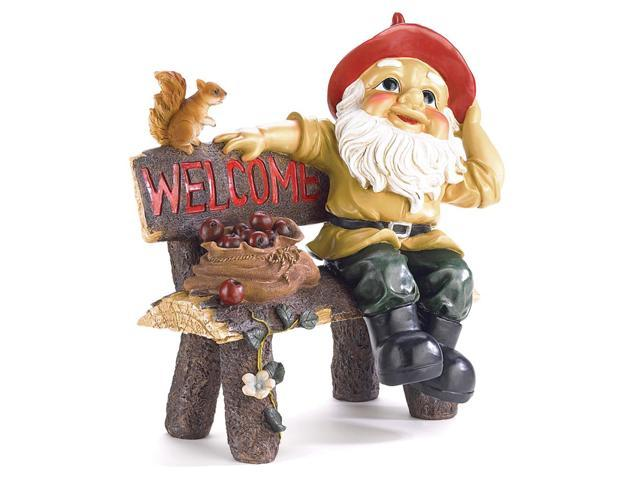 Koehler Home Entry Welcome Decor Gift Accent Garden Gnome Welcome Statue