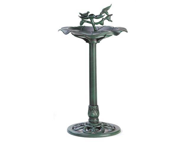 Koehler Home Decor Outdoor Garden Accent Verdigris Plastic Birdbath