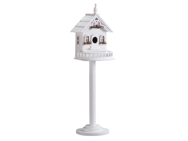 Koehler Home Decor Outdoor Garden Freestanding Wooden Victorian Birdhouse