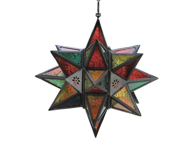 Koehler Home Decor Gift Accent Moroccan Style Star Tealight Votive Candle Holder Lantern