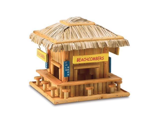 Koehler Home Decor Outdoor Garden Hanging Wooden Beach Hangout Birdhouse