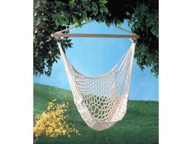 Koehler Home Decor Outdoor Garden Hanging Rope Swing Hammock Chair Cotton