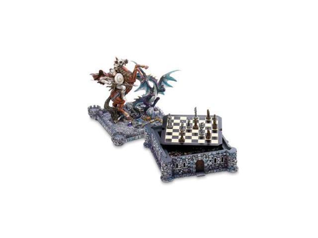 Koehler Home Decor Polyresin Board Play Medieval Dragon Chess Set