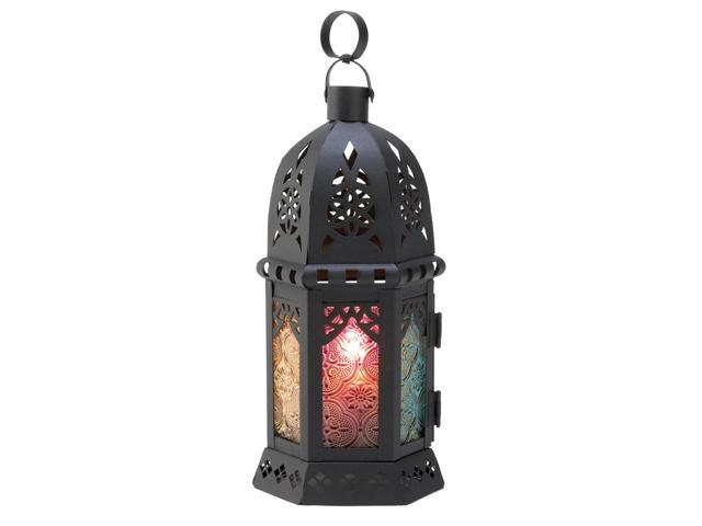 Koehler Home Decor Gift Accent Enchanted Dazzling Glass Rainbow Candle Lantern
