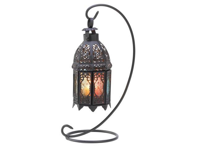 Koehler Home Decor Gift Accent Rainbow Moroccan Candle Holder Lantern Stand