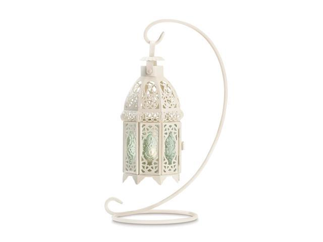 Koehler Home Decor Gift Accent White Fancy Tabletop Tealight Candle Holder Lantern