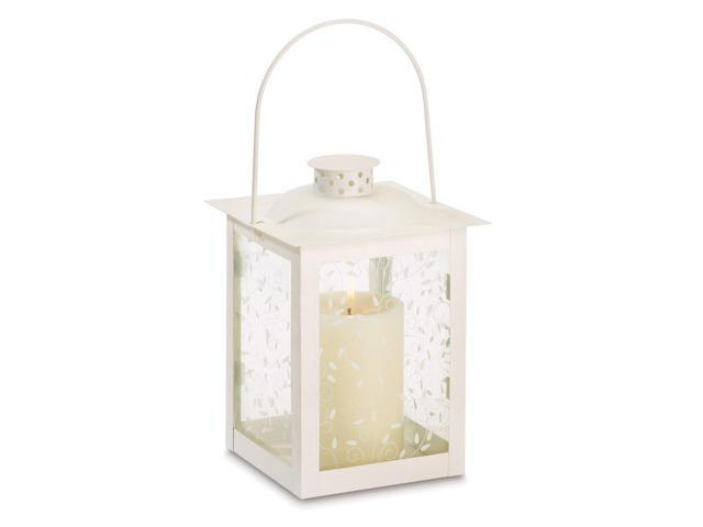 Koehler Home Decor Antique Style Glass Metal Hanging Candle Holder Lantern Large