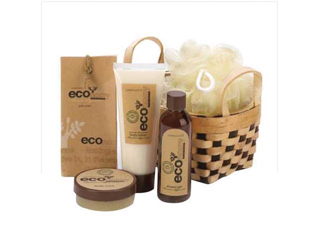 Koehler Home Organizer Eco-Nomy Shower Gel Lotion Scrub Bamboo Bath Basket