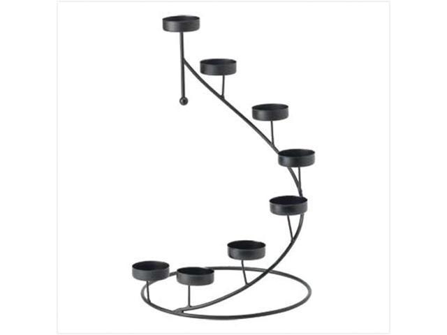 Koehler Home Decor Gift Accent Tabletop Metal Spiral Golden Tealight Votive Candle Holder