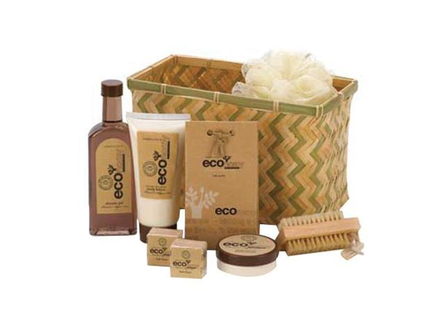 Koehler Home Organizer Eco-Nomy Shower Gel Lotion Scrub Bamboo Deluxe Bath Basket