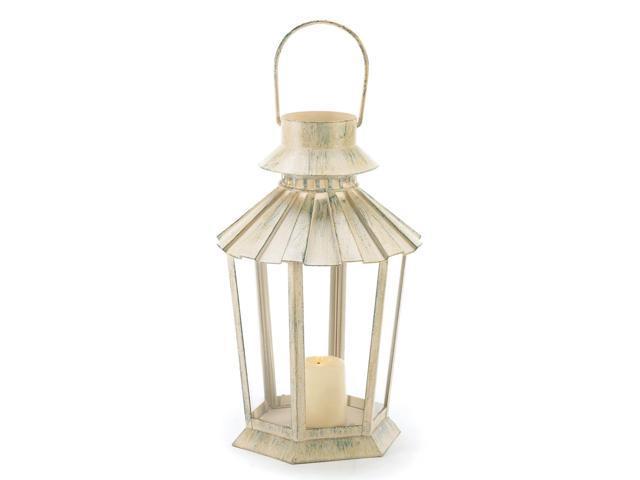 Koehler Home Decor Graceful Outdoor Garden Accent Pillar Candle Holder Lantern