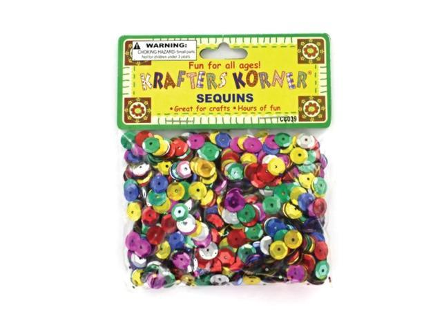 krafters korner Round Multi Colored Sequins Sewing Wedding Decor Craft Plastic Pack 24