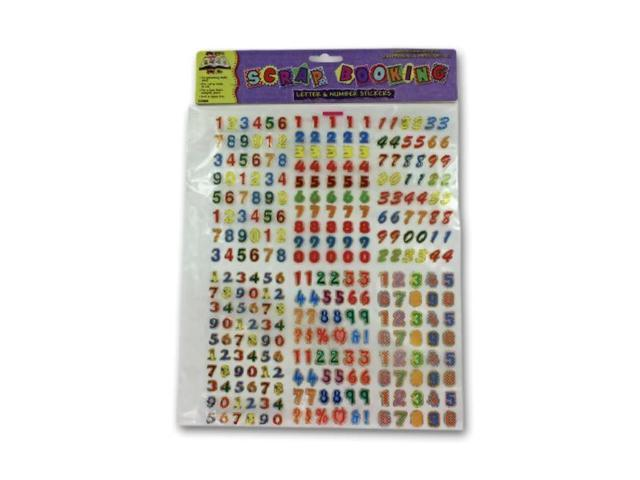Scrapbooking Kids School Classroom Project Craft Metallic Design Letters and Numbers Sticker Pack 24