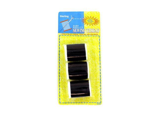 Household Accessories Seasonal Gifts Black Sewing Thread Set 24 Pack