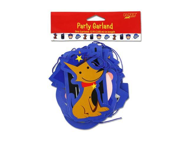 Bulk Buys Rescue Pals Police Officer Dog Radio Printed Paper Party garland 12 feet 24 Pack