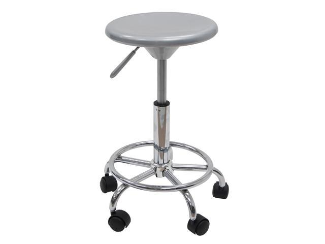 Studio Designs Home Office Modern Studio Adjustable Stool In Silver With Chrome