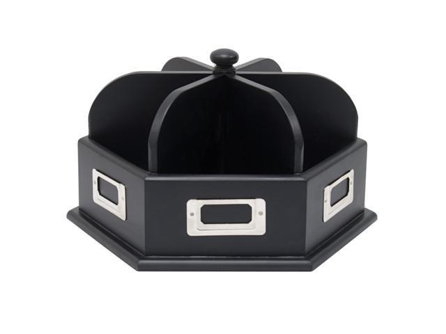 Studio Designs Home Office Table Top Storage Wood Desk Carousel In Black